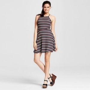 Mossimo Striped Ribbed Skater Dress